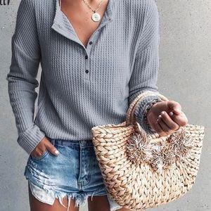 Long sleeve knit tee Size XXL NWT
